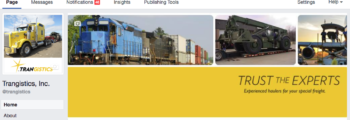 2012: Trangistics sets up Facebook and Twitter accounts